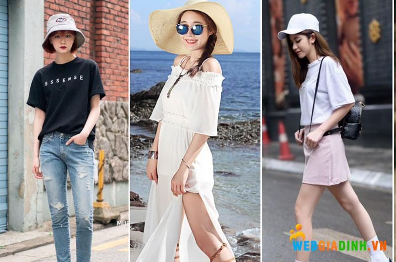 Mix đồ mùa hè kết hợp mũ