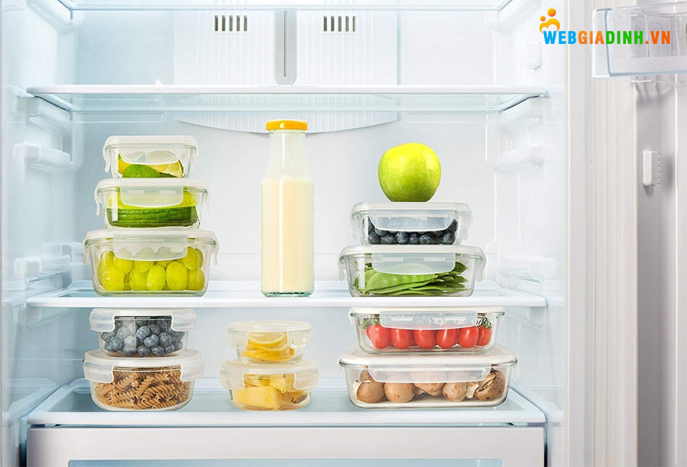 Bảo quản thực phẩm bằng hộp thủy tinh và sắp xếp gọn gàng trong tủ lạnh!
