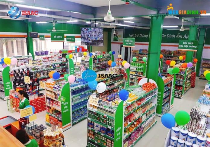 Dịch vụ thiết kế siêu thị mini của ISAAC