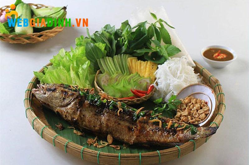 cá lóc nướng trui - ẩm thực miền Nam