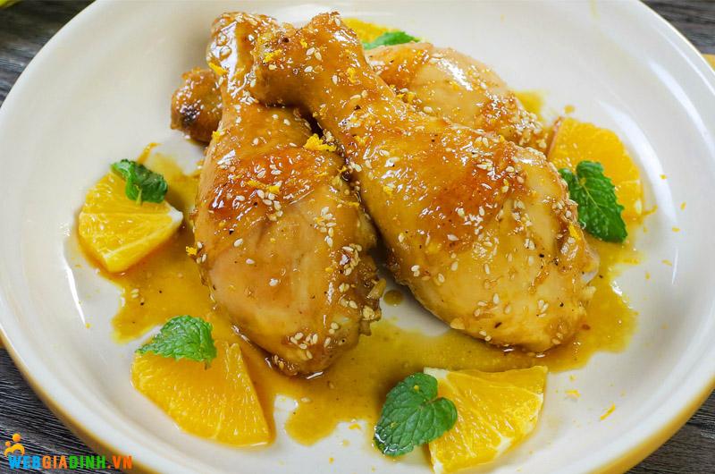 chế biến thịt gà sốt cam