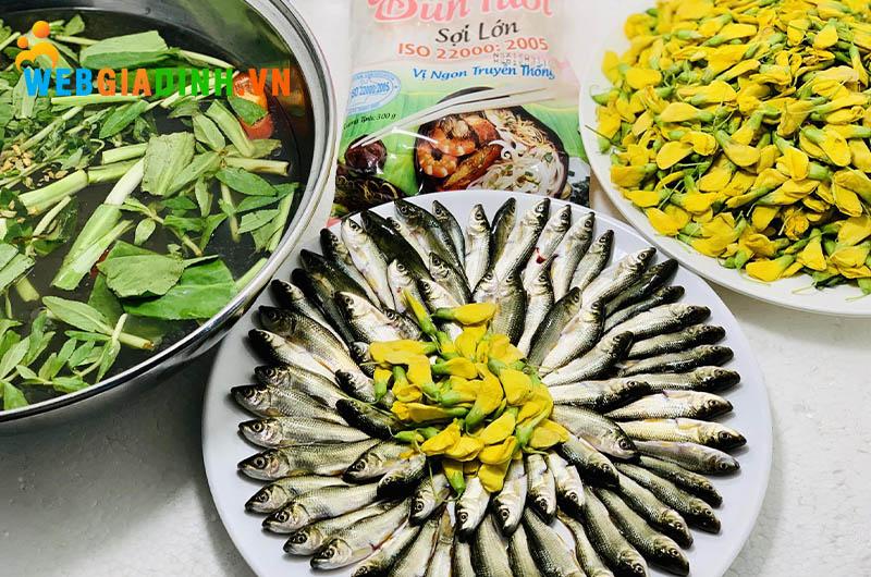 lẩu cá linh - đặc sản miền tây