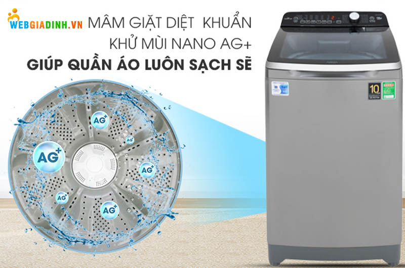 Máy Aqua Inverter 10 Kg AQW-DR100ET N