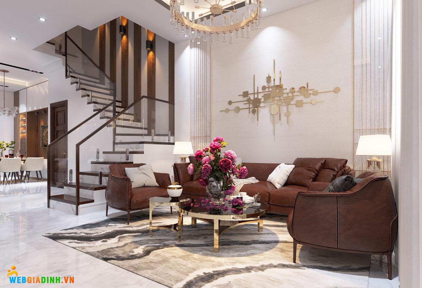 Dùng nội thất tối màu giúp không gian ngôi nhà rộng rãi hơn