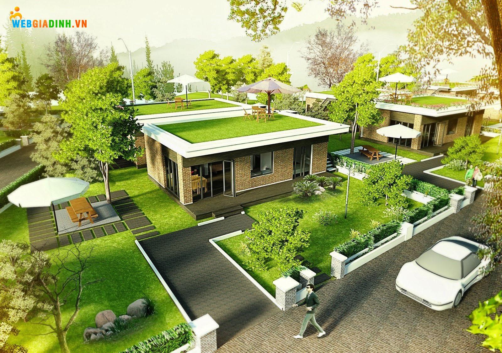 Không gian xanh cho ngôi nhà